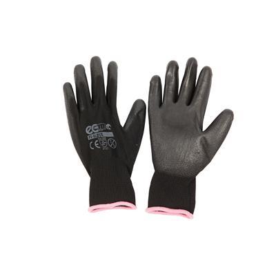 ถุงมือถักเคลือบ S ดำ อีโค่ PU GLOVE