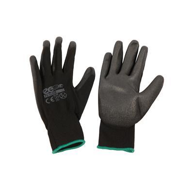 ถุงมือถักเคลือบ M ดำ อีโค่ PU GLOVE