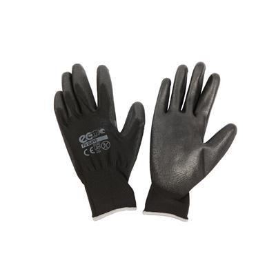 ถุงมือถักเคลือบ L ดำ อีโค่ PU GLOVE