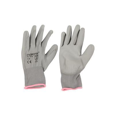 ถุงมือถัก S เทา ไมโครเท็กซ์ PU-GRIP