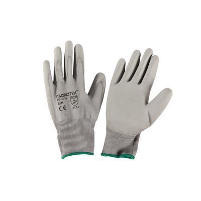 ถุงมือถัก M เทา ไมโครเท็กซ์ PU-GRIP
