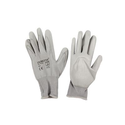 ถุงมือถัก L เทา ไมโครเท็กซ์ PU-GRIP