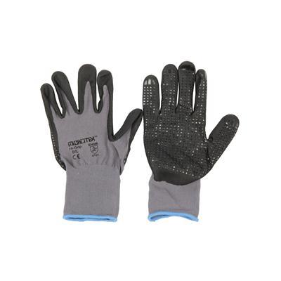 ถุงมือถัก L เทา ไมโครเท็กซ์ HI-GRIP