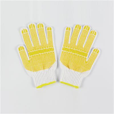 ถุงมือถัก Kato พิมพ์ PVC เหลือง