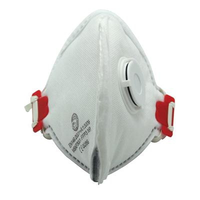 หน้ากากแบบพับมีวาล์วป้องกันPM2.5 ขาว แพงโกแคร์ MSKP3001