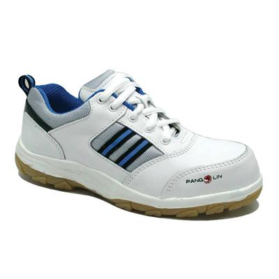 รองเท้านิรภัยเสริมหัวเหล็ก เบอร์ 7 ขาว แพงโกลิน PG212C