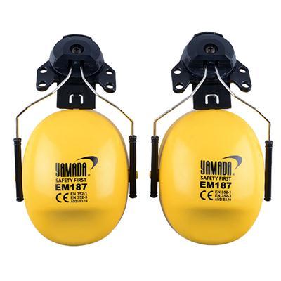 ที่ครอบหูลดเสียงติดหมวก เหลือง-ดำ YAMADA EM187