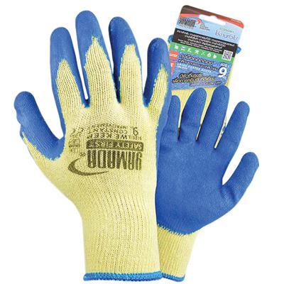 ถุงมือคอตตอนเคลือบยาง L น้ำเงิน YAMADA 9041