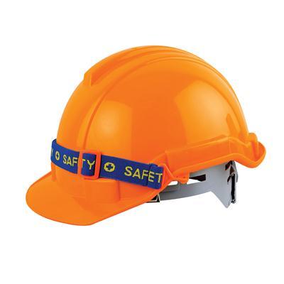 หมวกเซฟตี้ปรับเลื่อน มอก ส้ม