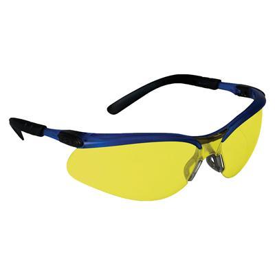 แว่นตานิรภัย เลนส์เหลือง กรอบฟ้า 3M BX 11524