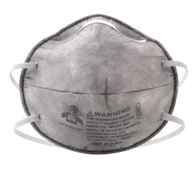 หน้ากากกันฝุ่นละอองและไอระเหยป้องกันPM2.5 3M 8247 R95