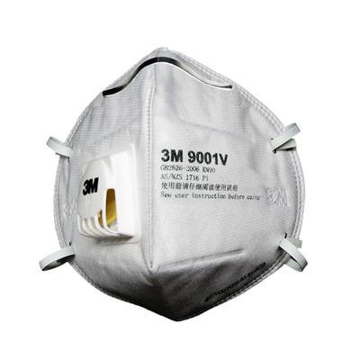 หน้ากากกันฝุ่นวาล์วคล้องหู 3M 91001V P1