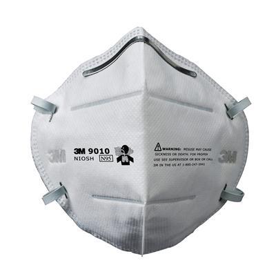 หน้ากากป้องกันฝุ่นละออง (กล่อง10ชิ้น) 3M 9010 N95