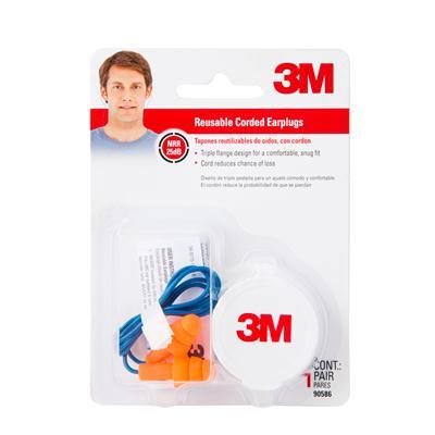 ปลั๊กอุดหูชนิดยาง (มีสายพร้อมกล่อง) 3M