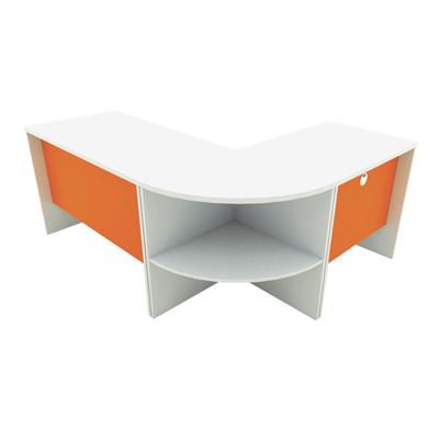 ชุดโต๊ะทำงาน ส้ม-ขาว STB