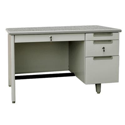 โต๊ะทำงานเหล็ก 4 ฟุต ครีม เฟอร์ราเดค MT-2648