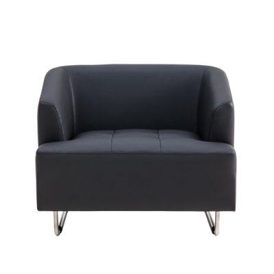 โซฟา 1 ที่นั่ง หนังดำ เฟอร์ราเดค LETRO1