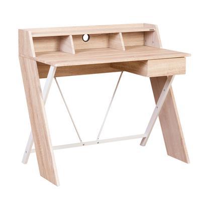 โต๊ะทำงาน+ชั้นวางของ บีช เฟอร์ราเดค CT-1424
