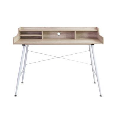 โต๊ะทำงานพร้อมชั้นวางของ บีช เฟอร์ราเดค CT-1635