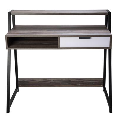 โต๊ะทำงานพร้อมลิ้นชัก สีลายไม้ เฟอร์ราเดค CT-1717