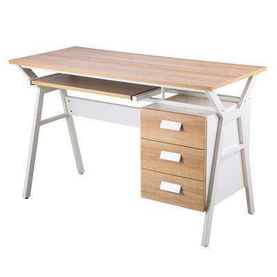 โต๊ะทำงานพร้อมตู้ข้าง เมเปิ้ล เฟอร์ราเดค CT-8625K