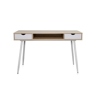 โต๊ะทำงานพร้อมลิ้นชัก สีบีช-ขาว เฟอร์ราเดค CT-1409L