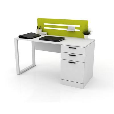 โต๊ะทำงาน สีขาว สกรีนเขียว เฟอร์ราเดค LOOP-A
