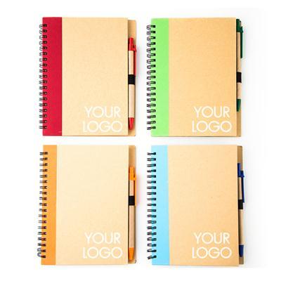สมุดโน้ตสันลวด+ปากกา+สกรีน 1 สี 1 จุด Premium MN-201