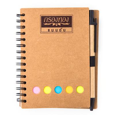 สมุดโน้ต+ปากกา+สกรีน 1 สี 1 จุด Premium MN-154