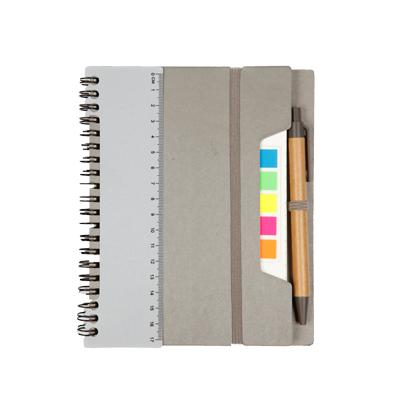 สมุดโน้ตพร้อมปากกา+สกรีน 1สี 1จุด Premium RF-705-PET