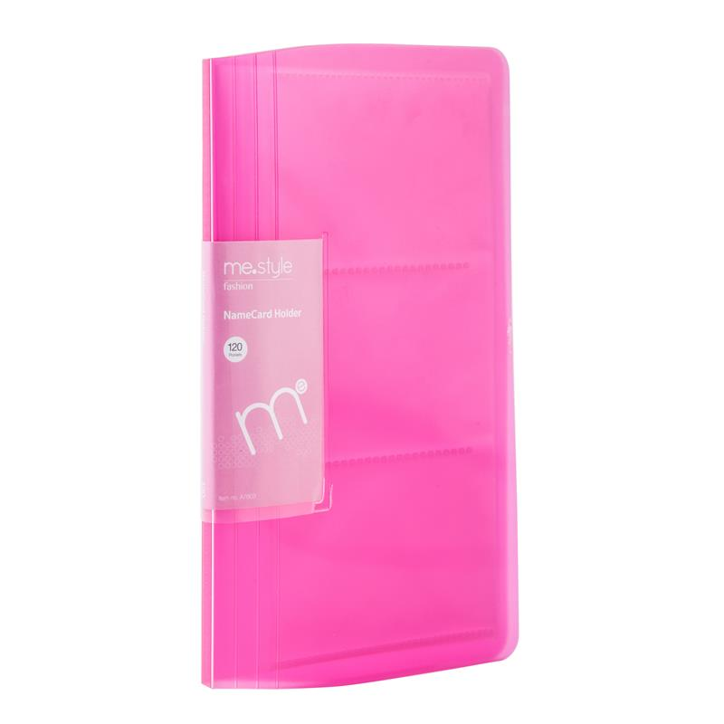 ME.STYLE A7603 Business Card Holder Pink (120 Sheets) Business Card ...
